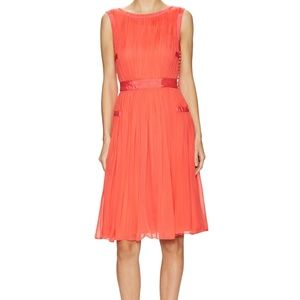 Diane Von Furstenberg DVF Letty Silk Pleated Dress